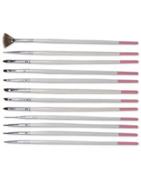 DL-C341Nail Art Brush Set12 pc./Набір пензлів для нігтів