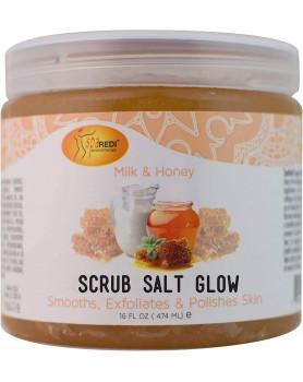 Salt Glow Mineral  body scrub Milk-Honey /474 ml