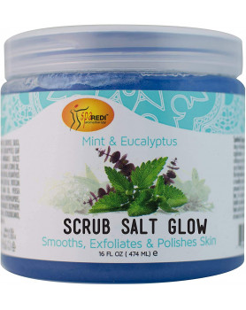 Salt Glow Mineral  body scrub Mint Eucalyptus /474 ml